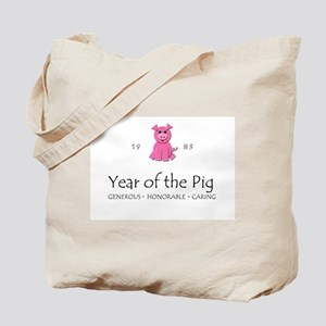 """Year of the Pig"" [1983] Tote Bag"